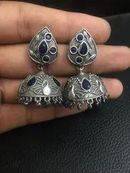 Traditional Silver Look Alike Earring