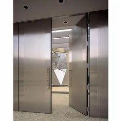 Powder Coated Stainless Steel Fire Resistant Doors, Double Door, Thickness: 46 Mm