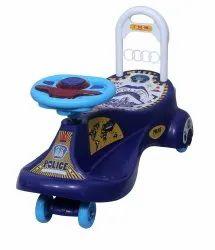 Blue Police Magic Car, For School/Play School
