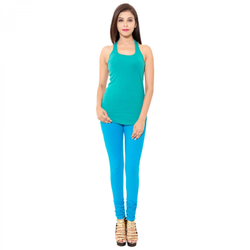 Humaira Lycra Ladies Firozi Legging, Size: M-XXL