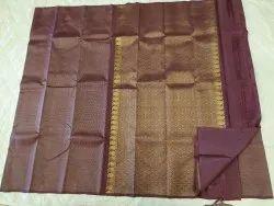 Cocoa Color Silk Saree
