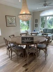Brown 6 Seater wooden dining tables and chairs furniture Hyderabad