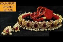 330 Kolhapuri Choker Necklace