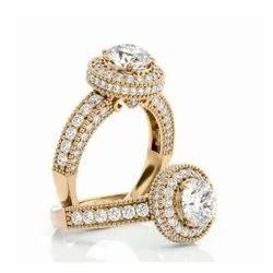 Round Brilliant Moissanite Ring, Engagement Ring, Diamond Ring for Women, Anniversary Gift for Her