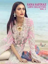 Shree Fabs Sana Safinaz Lawn Collection Vol-1 Pakistani Style Suits Catalog