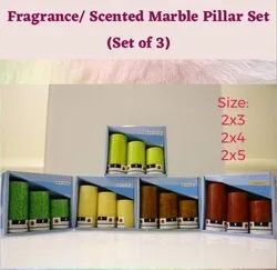 3 No. Scented Marble Pillar Set