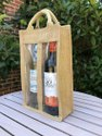 Jute Or Canvas Bottle Bag