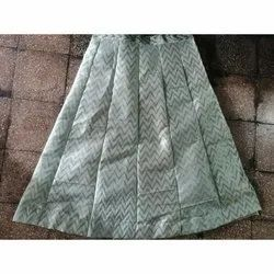 Long Printed Ladies A Line Rayon Skirt, Size: Free Size