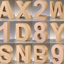 3D MDF Letter And Number