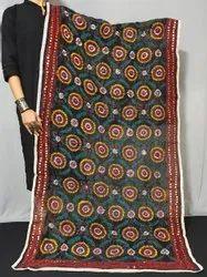 Women's Chanderi Silk Phulkari Dupatta