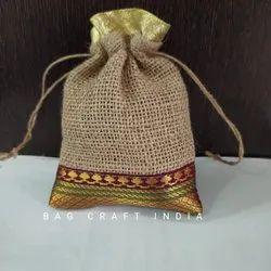 Designer Jute Pouch Bag (PB202107)