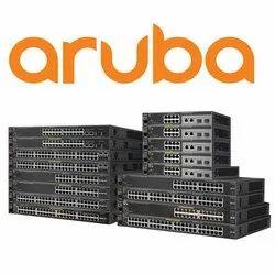 Black LAN  Capable HPE Aruba Network Switch