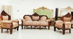 Aarsun Woods European Wooden Hand-Carved Sofa Set, For Home, Living Room