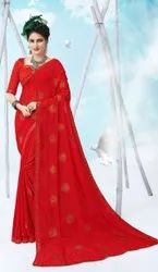 Party Wear Chiffon With Swarovski Work Saree