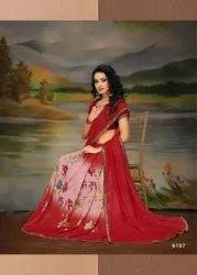 Haytee Sakhi Vol-4 Renial Printed Saree Catalog Collection