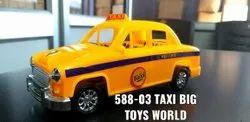 Yellow 588-03 Taxi Big Plastic Toy Car, For School/Play School