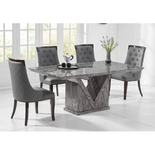 Wooden Marble Grey Top Dining, Marble Dining Room Table