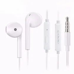 Wired Plastic OPPO MH319 InEar Earphone With Mic White