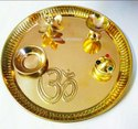 Gold Plated Pooja Thali Best Diwali Gift