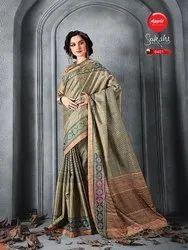 Manipuri Silk Digital Printed Saree