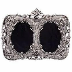 Glass Silver Sliver Photo Frame, For Gift