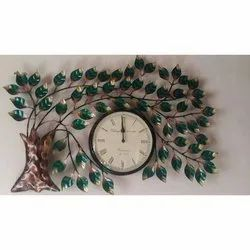 Ethnic India Analog Iron Tree Wall Clock, For Home, Size: 60 X 60 Cm