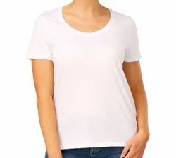 Half Sleeve 20 COLOURS Womens Scupe Neck, Size: S to 2XL