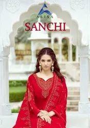 Alisa Sanchi Georgette Ethnic Wear Suits Catalog Collection