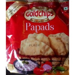 Gold Chips 90g Plain Pappad, Size: 5 Inch