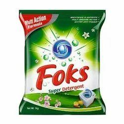 Lemon Foks Super Detergent Powder, For Laundry, 1 Kg