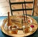 Brass Gold Plated Pooja Thali for Corporate Gifting