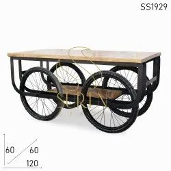 Wooden Blue Vintage Farmhouse Wedding Event Table, Seating Capacity: 6