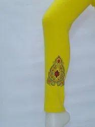 Straight Fit Printed Ladies Lycra Legging