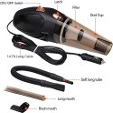 Portable And High Power Plastic 12V Car Vacuum Cleaner 4500pa Stronger Suction