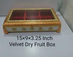 15x9x3.25 Inch Velvet Dry Fruit Box