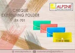 Cheque Expanding Folder
