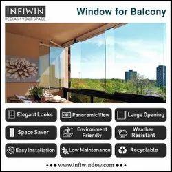 Frameless Glass Balcony Window