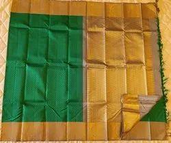 Emerald Green & Gold  Colors Silk Sarees