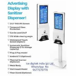 Auto Dispenser Stand Spray touch free hand sanitizer dispenser