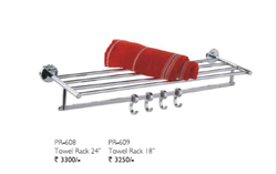 Ss Wall Mounting Type Prima Series Metal Towel Rack, Size: 2 Ft
