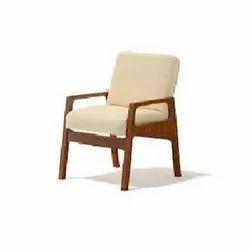 24 X 16 X 24 Inches Wooden Arm Sofa Chair