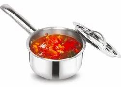 Stainless Steel Sauce Pan With Lid (Tribot Series), For Home, Size: 15cm To 18cm Dia
