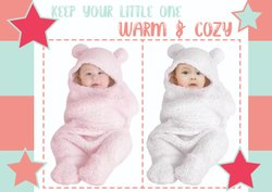Hooded Swaddle Wrapper / Baby Blanket