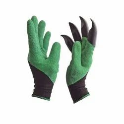 Green Garden Farming Gloves Washable-Garden Gloves, Size: Medium