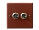 Antique Style Dual Brass Switch