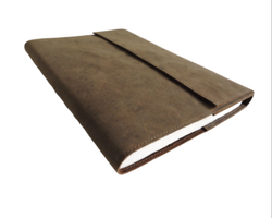 A4  Flap Closure Refillable Handmade Leather Journal