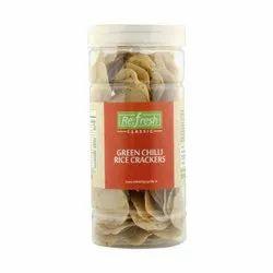 Green Chilli Rice Crackers
