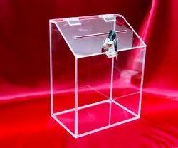 Acrylic Donation Box For NGO