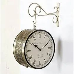 golden station clock home decor wall hanging, 6*6inches