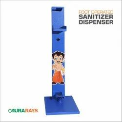 Blue Foot Operated Sanitizer Dispenser